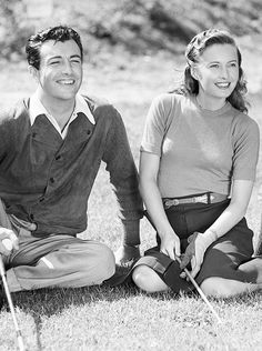 Robert Taylor and Barbara Stanwyck photographed by Carole Lombard