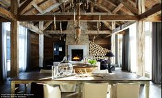 amazing elle decor living room - the firewood!