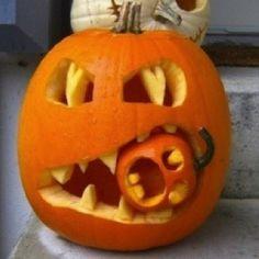 Halloween! #pumpkin #halloween #jack_o_lantern #carving