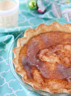 Egg Nog Brulee Pie -