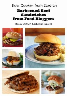 Slow Cooker Barbecued Beef Sandwiches with Homemade Sauce, perfect for a Slow Cooker Summer Dinner! [via Slow Cooker from Scratch] #SlowCooker #CrockPot #FromScratch