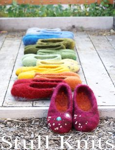 Felted wool Stull slippers  Made to Order  Women by StullKnits