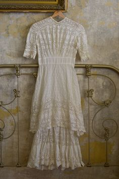 Victorian Lawn and Lace Wedding Dress