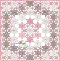 Inklingo Setting for Pieced Hexagons