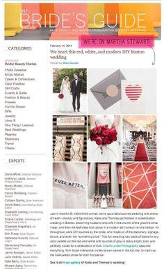 HUGE NEWS! MARTHA STEWART HEARTS OUR WEDDING!   the obsessive imagist