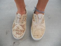 marauder's map shoes!!