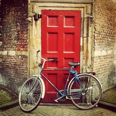 red door, bike