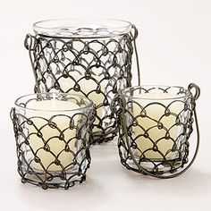 wired wrapped candles