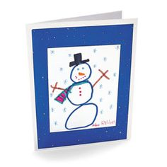 Yes! Use kids' art--so pretty! Christmas cards