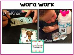 kinder ela, ela center, guid read, read activ, word work