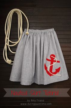 Learn how to #sew a nautical skirt   Project by @Amy Lyons Lyons Friend   Fabric and more from Joann.com