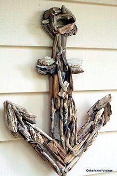 Crafts Made From Driftwood | Driftwood Anchor via Karoline at Cherished Vintage . Karoline even ...