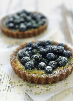 Blueberry-lime tartlets.