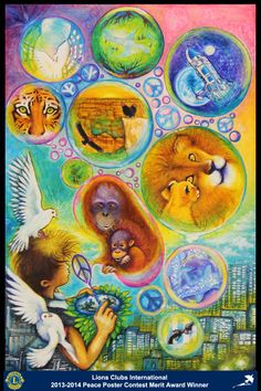 Merit Award Winner, Kisaragi Soto, from Japan (Minakuchi Lions Club) - 2013-2014 Lions Clubs International Peace Poster Contest