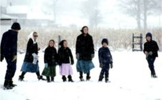 final amish snow family