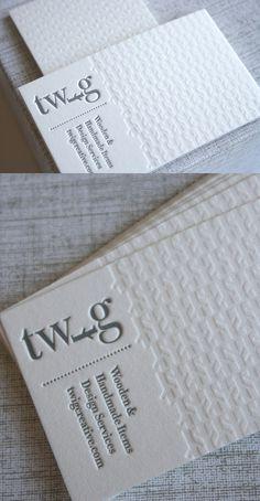 twig letterpress businesscard