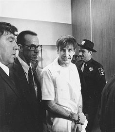 """Gary Gilmore (1940-1977) was convicted of two murders in Utah and later became famous for insisting his death sentence by firing squad be carried out. He was the first person executed in the U.S. after new death penalty laws were upheld by the U.S. Supreme Court. His famous last words were: 'Let's do it!' A book was written about his crimes~ """"Executioner's Song"""""""