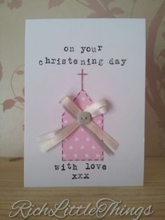 Christening Card - Holy Communion Card - Naming Ceremony Card - Personalised £3.00