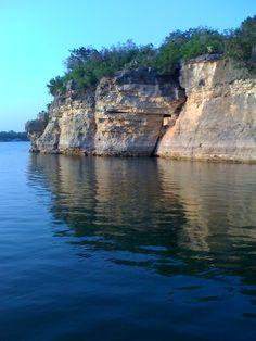 Cliff jumping on Lake Travis