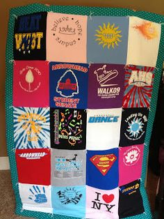 How to make a T-shirt Quilt I have always wanted to do this!