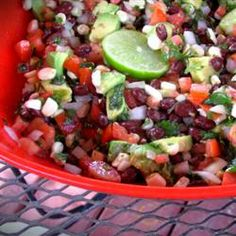 Here's my Healthy appetizer /dip for crowd pleasing results.  This one is always a big hit.   So good.