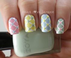 Pastel Easter Spring Nail Art Zoya Color Club Barielle Stripe