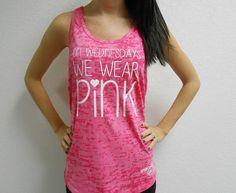 On Wednesday We Wear Pink Tank Top. Mean Girls Tank Shirt