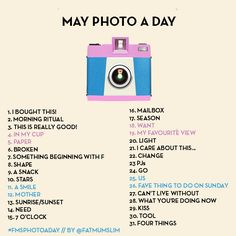 Photo a day challenge : May