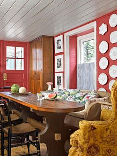 Decorating with Red - Ideas for Red Rooms and Home Decor - Country Living