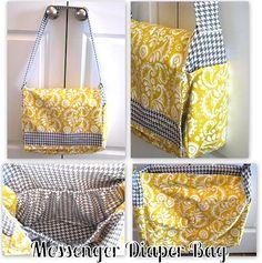 diaper bags, messenger bags, gift ideas, diy tutorial, messeng diaper, camera bags, baby shower gifts, bag tutorials, bag patterns