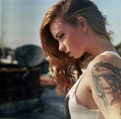 tattoo women, girl tattoos, ginger, red hair, tank girl, redheads, freckles, hatti watson, tanks