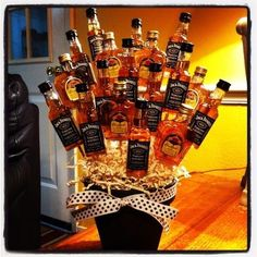 Bachelor party present from bride.. I'm positive the guys would appreciate this. :)