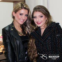 Renata Silvano e a modelo Sherolin.