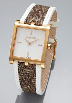 ideeli   VALENTINO Ladies Monogram Logo V-Strap Watch