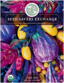 heirloom seeds from Seed Savers Exchange---in LOVE with the colors here