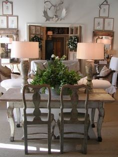 Lisa Luby Ryan and Billy Milner I love this furniture arrangment and use if often. A table or desk behind the sofa with the use of lamps-perfect for beauty and work!