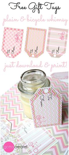 24 FREE #printable gift tags in 12 different designs. | I Gotta Create!