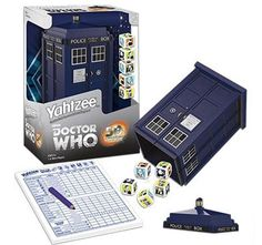 Doctor Who Yahtzee!! BARNES AND NOBLE FREAKING CARRIES THIS. YOU GO BARNES AND NOBLE!!!!!!!!!!!