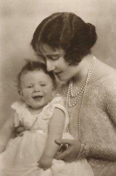 Queen Elizabeth II and the Queen Mother.