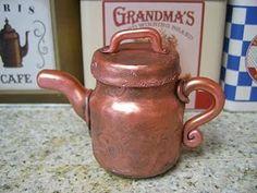 Baby food jar project # 4 I'm a little Copper tea pot