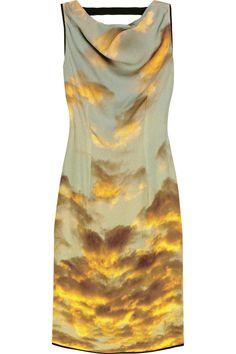 christopher kane cloud print dress