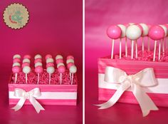 A place to put the cake pops if we have them!