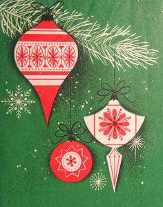 mid century Christmas graphic