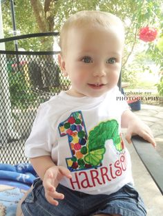 Very Hungry Caterpillar 1st Birthday Shirt - #projectnursery