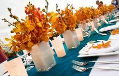 orange orchids!
