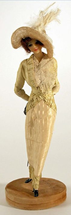 Lafitte Desirat Wax Boudoir Doll, France, 1909–14