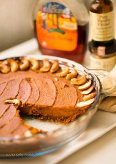 Maple Bliss Vegan Pumpkin Pie #thanksgiving #dessert