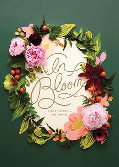 Paper and real flower wreath inspiration invit, design influenc, artdesign thing, fresh idea, design inspir, papers, idea unica