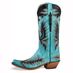 Lucchese Blue Emerald Boots from Crow's Nest Trading