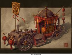 Concept art for Steampunk Vehicle
